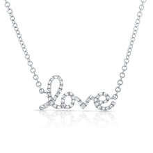 Load image into Gallery viewer, Sabrina Designs 14k White Gold Diamond Love Necklace