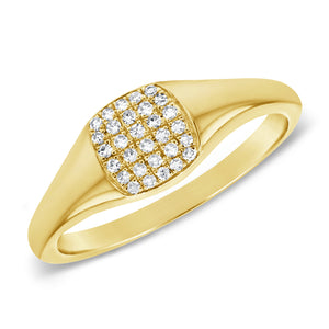14k Gold & Diamond Pinky Ring