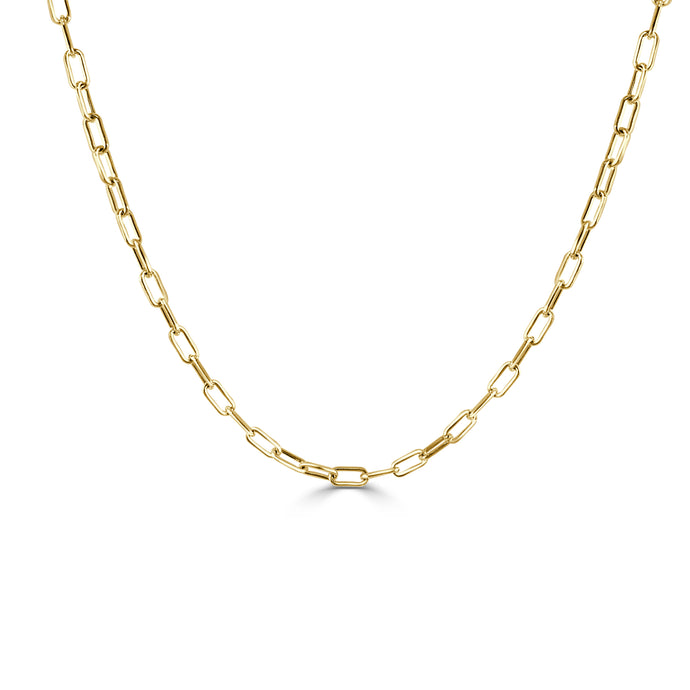 14k Gold Paperclip Link Necklace - XX-Small