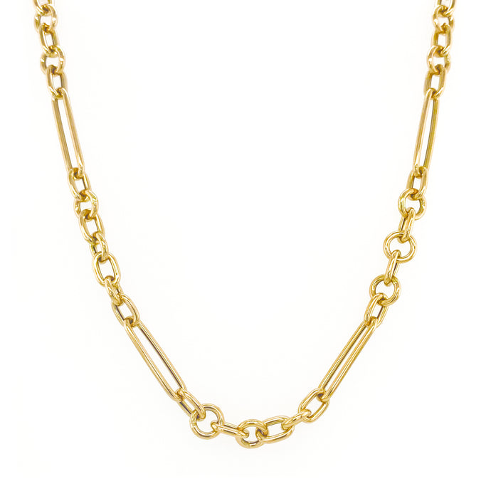 14k Gold Dual Link Chain Necklace