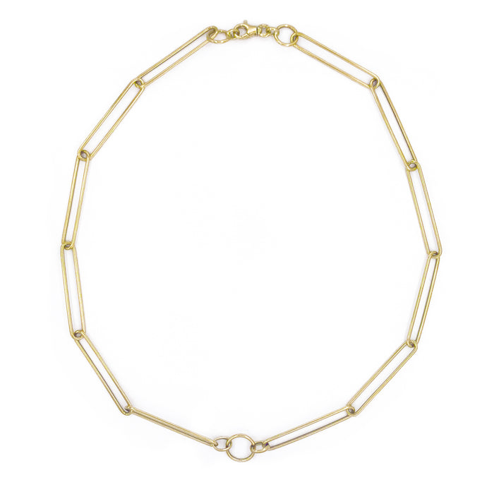 14k Gold Large Link Chain Necklace