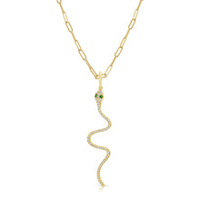 Load image into Gallery viewer, 14k Gold & Diamond Snake Charm