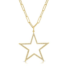 Load image into Gallery viewer, 14k Gold & Diamond Star Charm