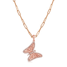 Load image into Gallery viewer, 14k Gold & Diamond Butterfly Charm