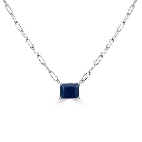 14k Gold & Sapphire Link Necklace