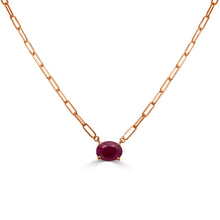 Load image into Gallery viewer, 14k Gold & Ruby Link Necklace