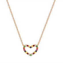 Load image into Gallery viewer, Sabrina Designs 14k Rose Gold Rainbow Heart Necklace