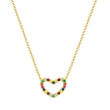 Load image into Gallery viewer, Sabrina Designs 14k Yellow Gold Rainbow Heart Necklace