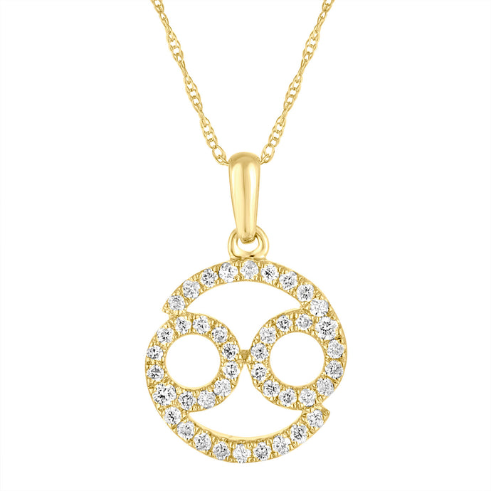14k Gold & Diamond Zodiac Necklace