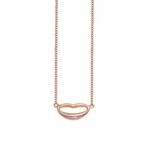 14k Gold Lips Necklace