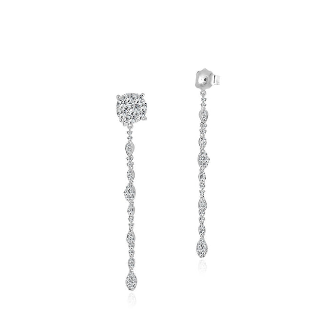 Sabrina Designs 14K White Gold Diamond 2 Inch Pushbacks
