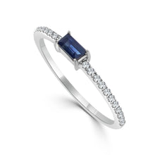 Load image into Gallery viewer, Sabrina Designs 14k White Gold Diamond & Sapphire Stackable Ring
