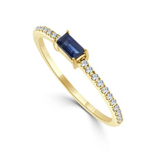 Load image into Gallery viewer, Sabrina Designs 14k Yellow Gold Diamond & Sapphire Stackable Ring