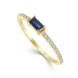 Sabrina Designs 14k Yellow Gold Diamond & Sapphire Stackable Ring