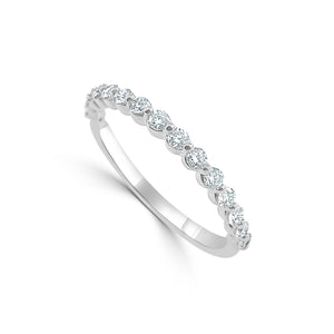 Sabrina Designs 14k White Gold Diamond Band