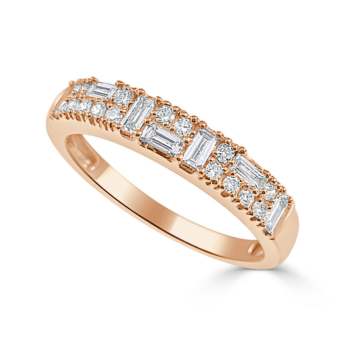 Sabrina Designs 14K Rose Gold Diamond Baguette Ring