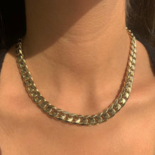 Load image into Gallery viewer, 14k Gold Curb Link Necklace