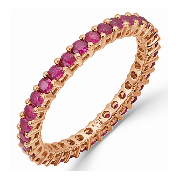 Sabrina Designs 14K Rose Gold Eternity Ruby Ring