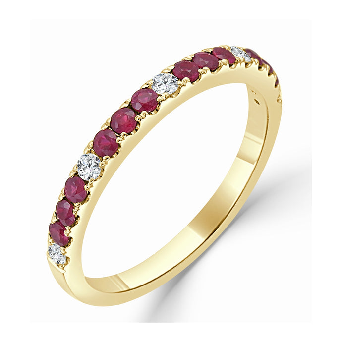 Sabrina Designs 14k Yellow Gold Diamond and Ruby Ring