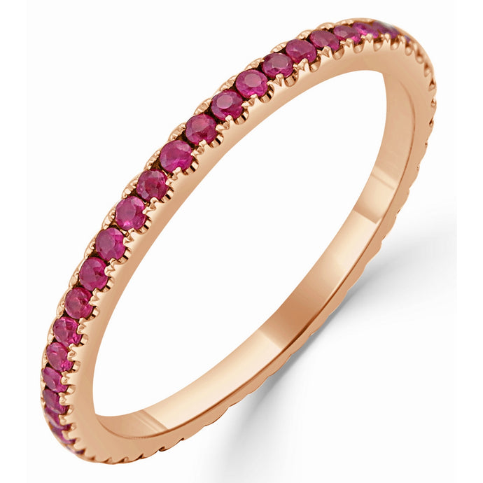 Sabrina Designs 18k Rose Gold Ruby Eternity Ring