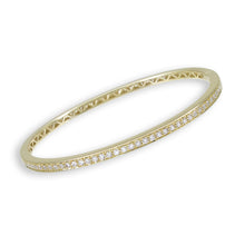 Load image into Gallery viewer, 18k Gold & Diamond Bangle