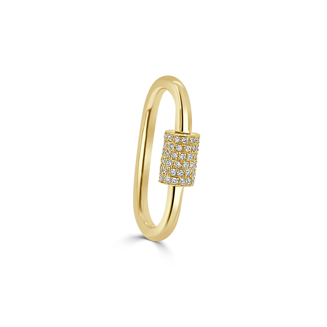 14k Gold & Diamond Charm Connector