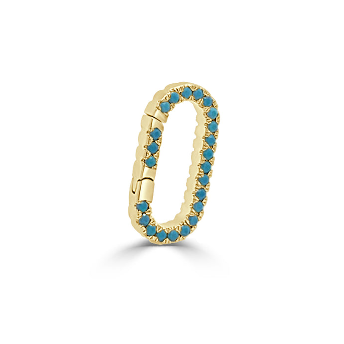 14k Gold & Turquoise Charm Connector