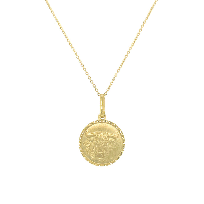 14k Gold Zodiac Necklace