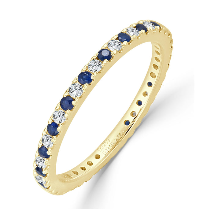 Sabrina Designs 18K Yellow Gold Diamond and Blue Sapphire Ring