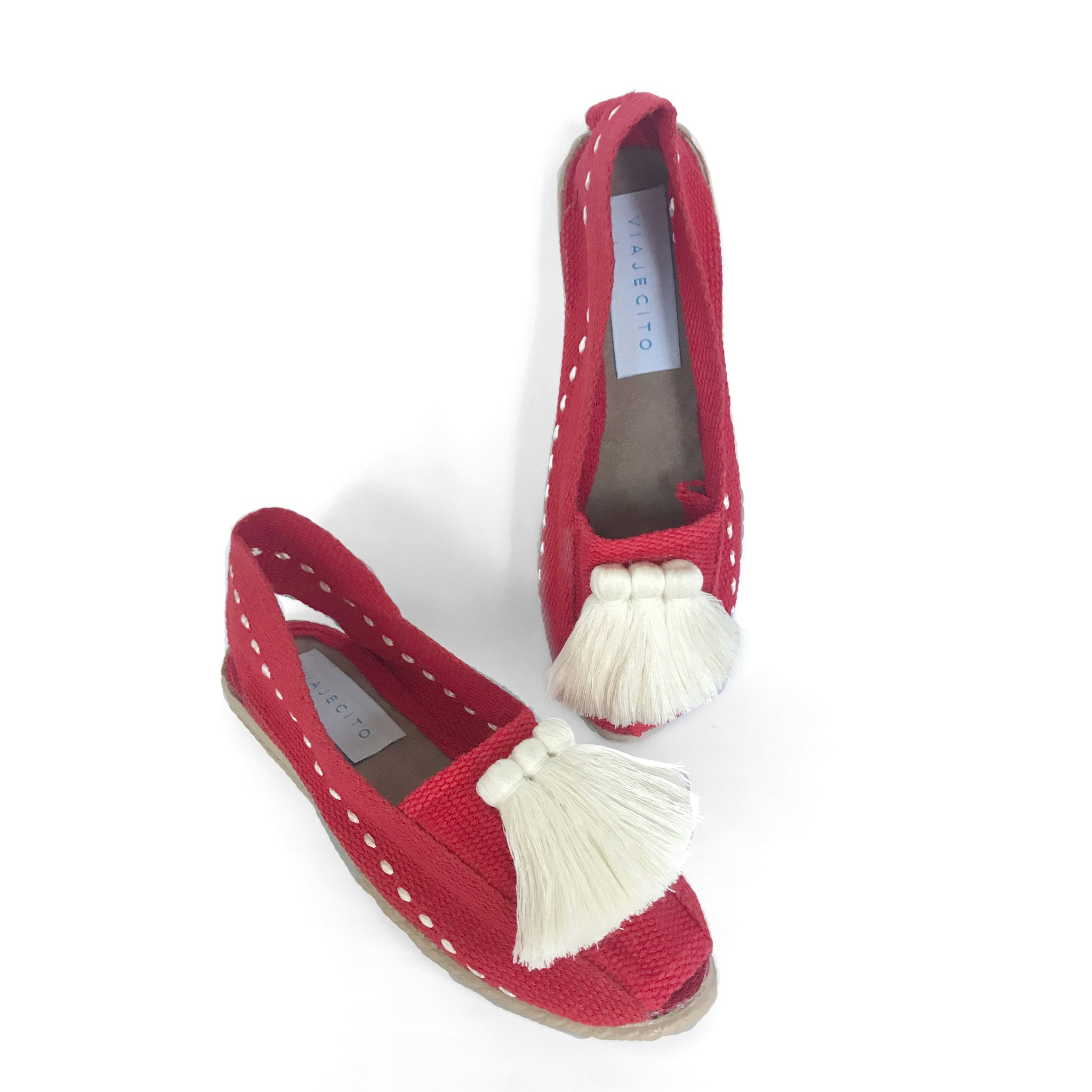 Red with Cream Tassel
