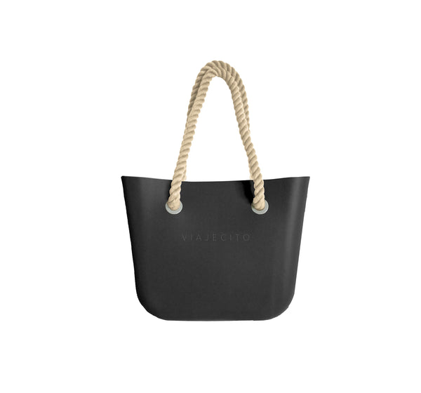 All Black Midi Tote