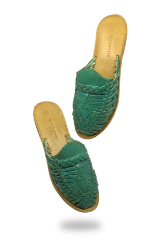 Verde Slides with Yellow Soles