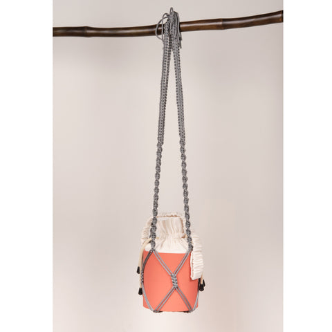 Grey Macrame Splashbucket Strap