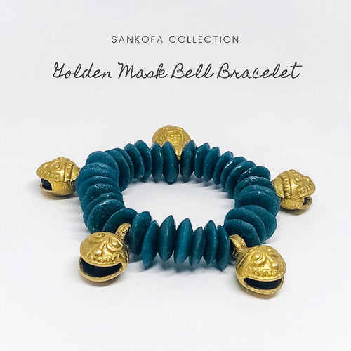 Golden Mask Bell Bracelet