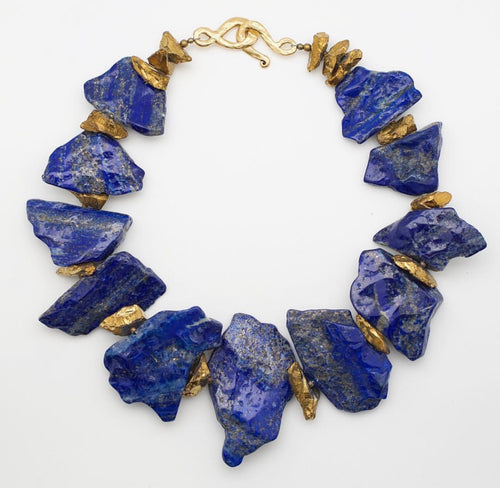Royal Lapis Lazuli Statement Necklace