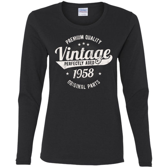 Vintage Est 1941 77 Years Old 77th Birthday Gift Women LS T Shirt