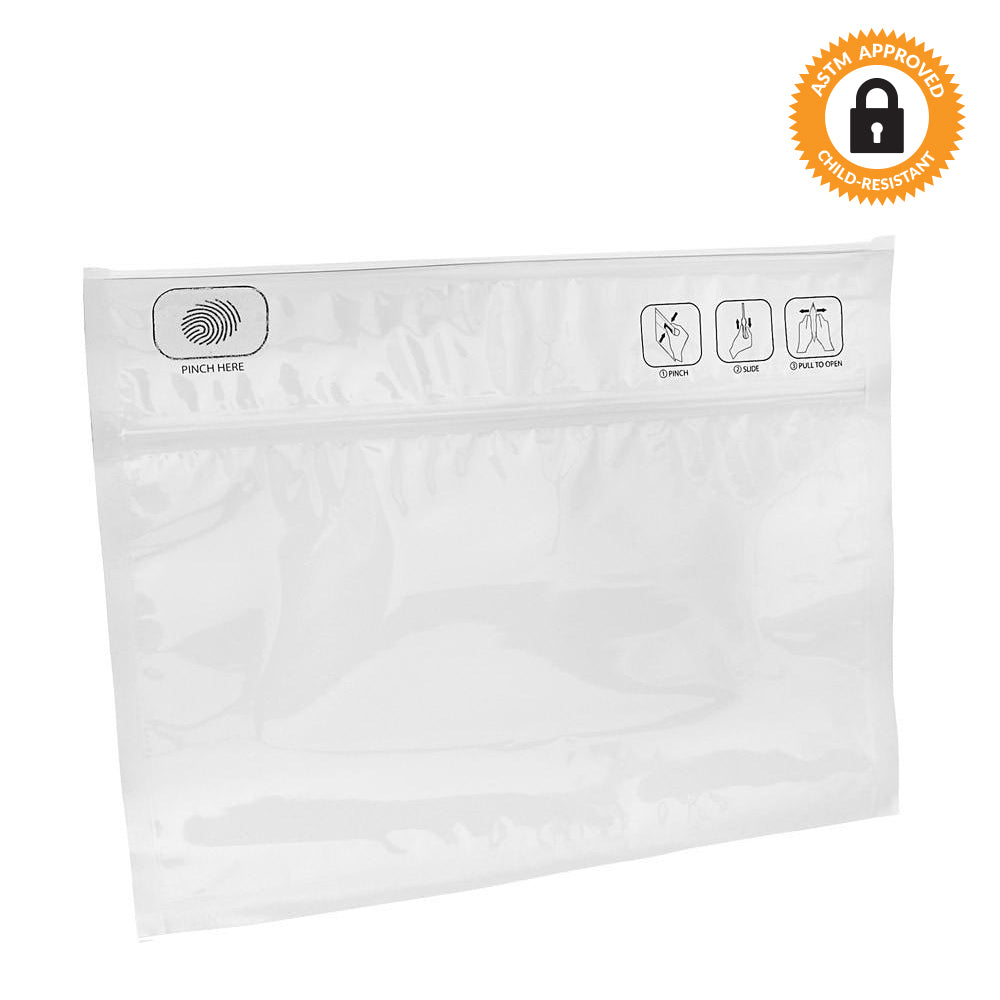 "Pinch N Slide ASTM Child Resistant Exit Bags 12"" x 9"" - Qty 250"