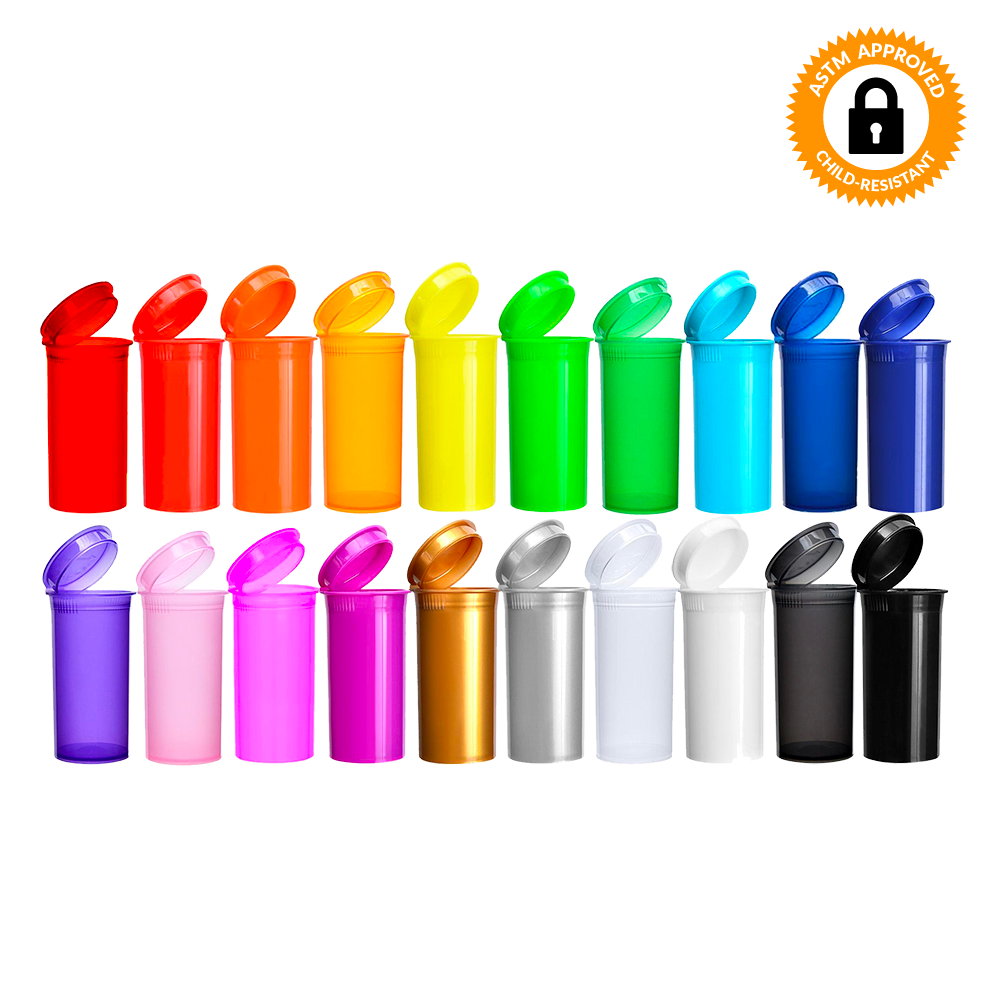19 Dram CR Pop Top Bottle - Multiple Colours Available - Qty 225