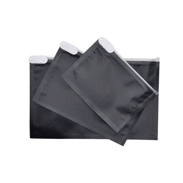 1/8oz CR Matte Locking Exit Bags - Black - Qty 100