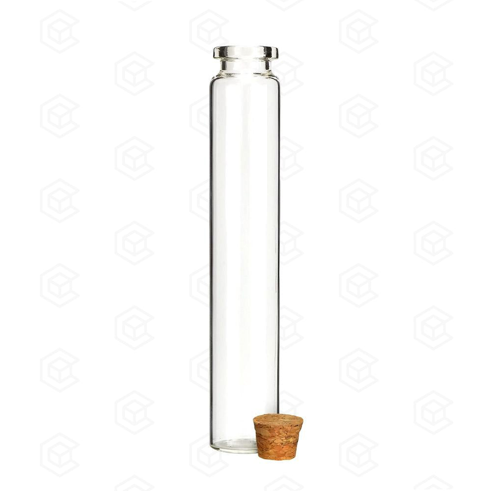 120mm Glass Pre Roll Tube with Cork Top - Qty 586