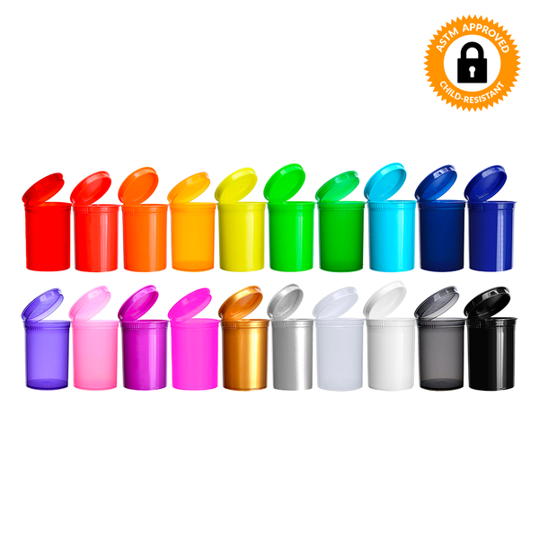30 Dram CR Pop Top Bottle - Multiple Colours Available - Qty 150