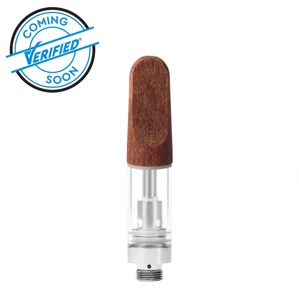 Verified® Glass Cartridge with Wooden Mouthpiece - Qty 100