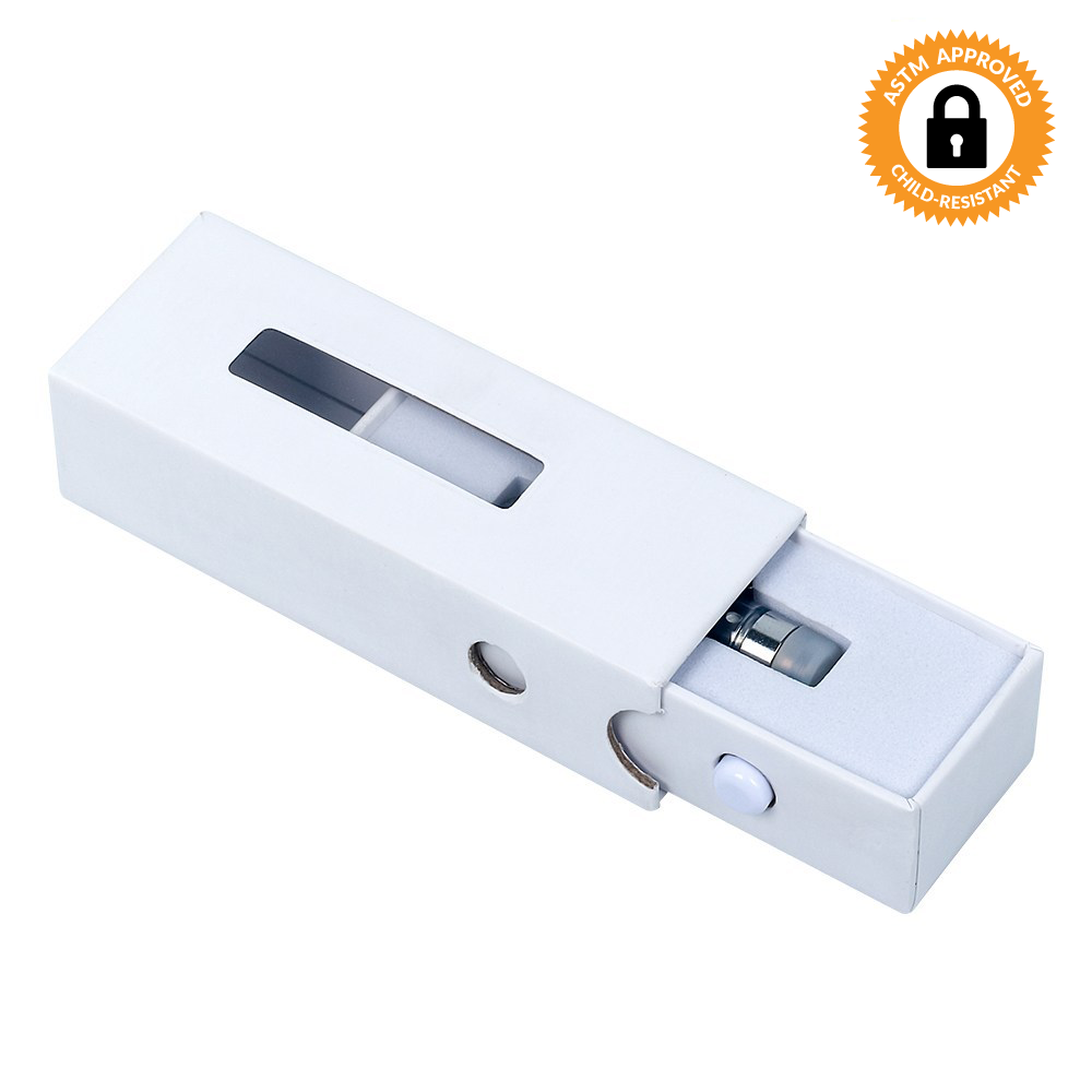1.0ML White CR Slide Box for Cartridge - Qty 100