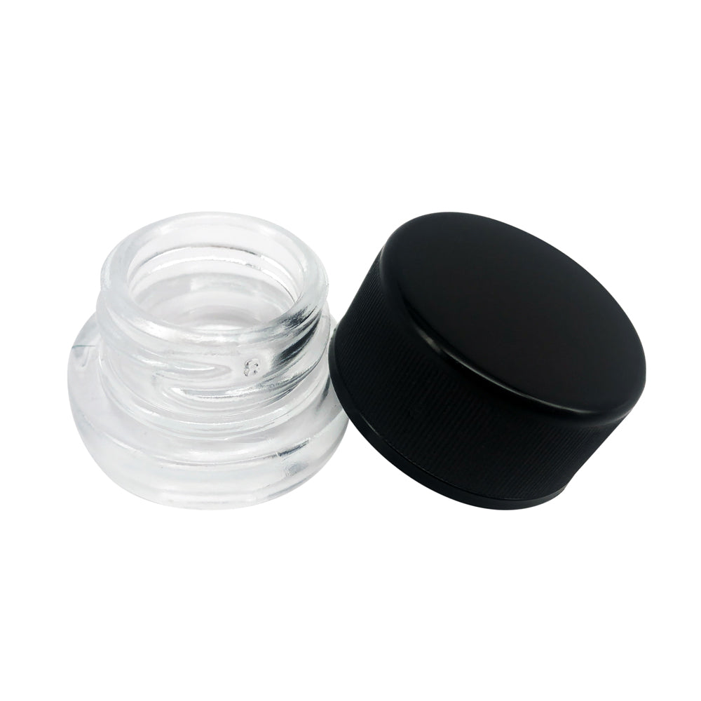5ml Glass Concentrate Jar with Child-Resistant Cap - Qty 100