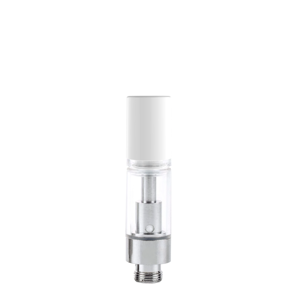 AVD® Glass Cartridge with White Eazy-Press Mouthpiece - Qty 100
