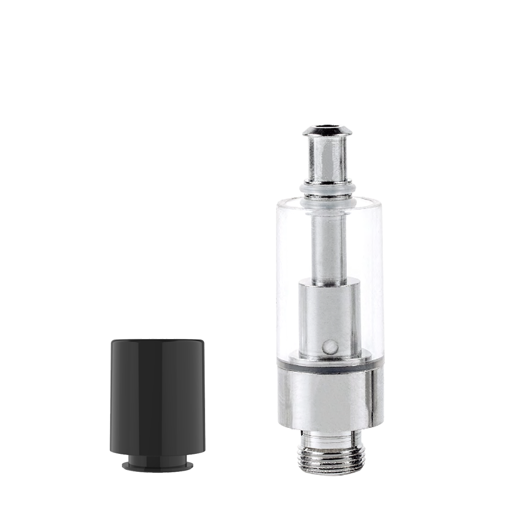 AVD® Glass Cartridge with Black Eazy-Press Mouthpiece - Qty 100