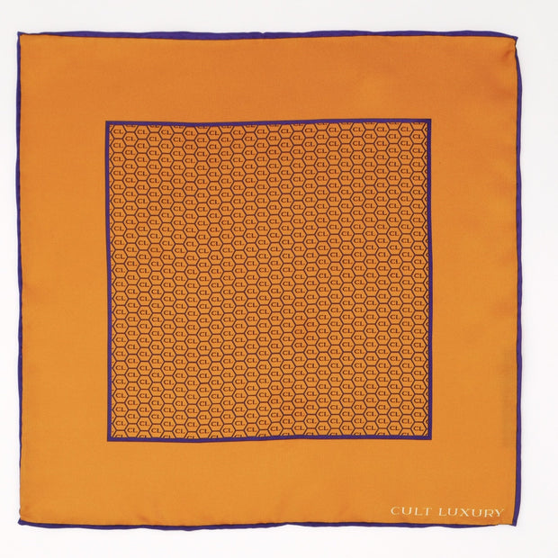 Orange silk square