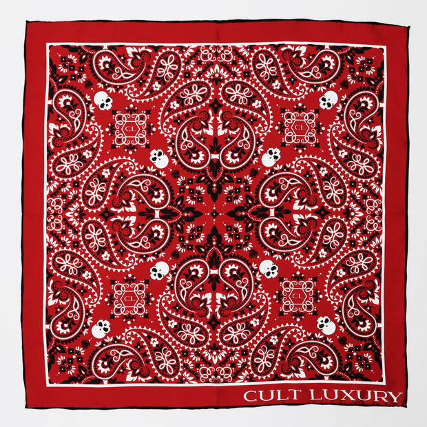Silk Red Bandana