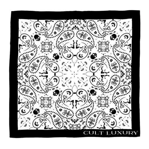 White silk bandana