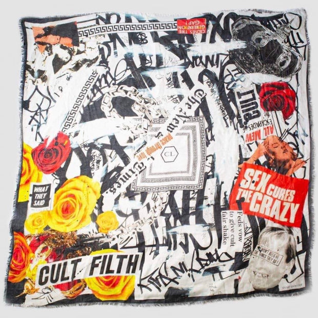 Nothing Cures Crazy Winter Silk Scarf